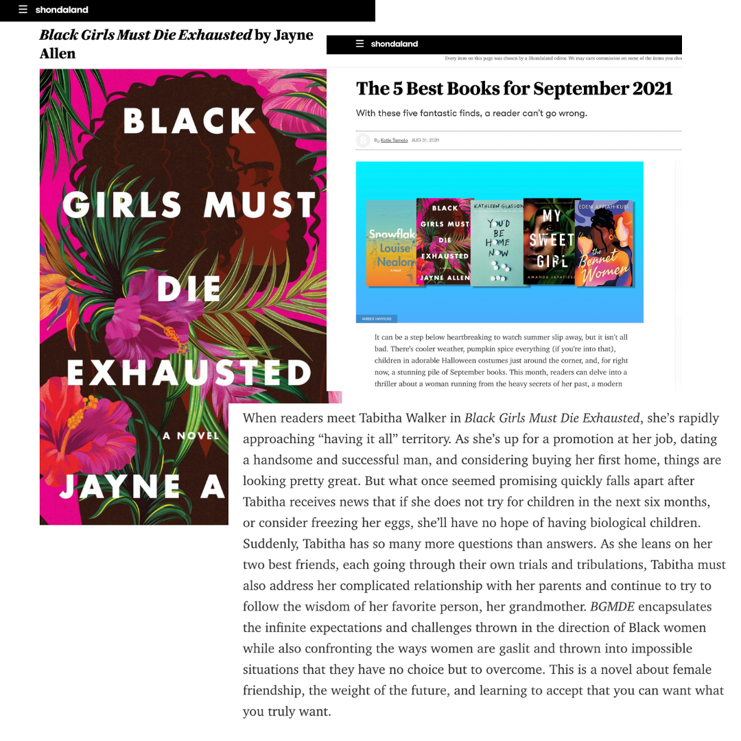 Shondaland Features BGMDE in The Best 5 Books for September 2021