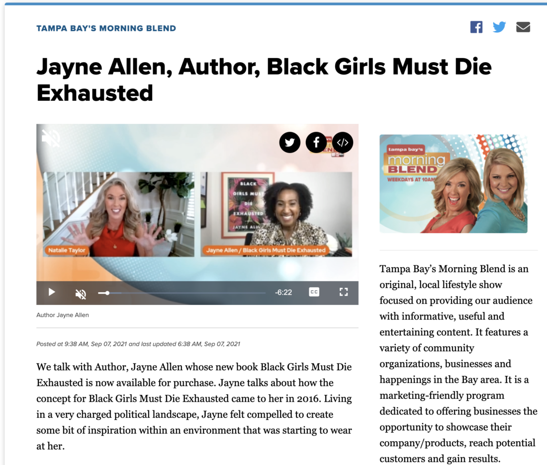 Jayne Allen Interview on ABC Action News – WFTS – Tampa Bay's Morning Blend